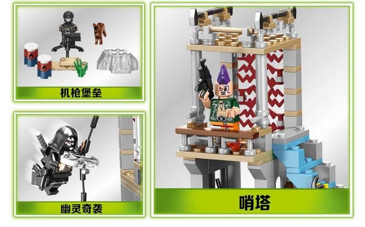 498pcs military swat counter-strike army  Ghost building blocks brick brinquedos juguetes educativos compatible with LEPIN