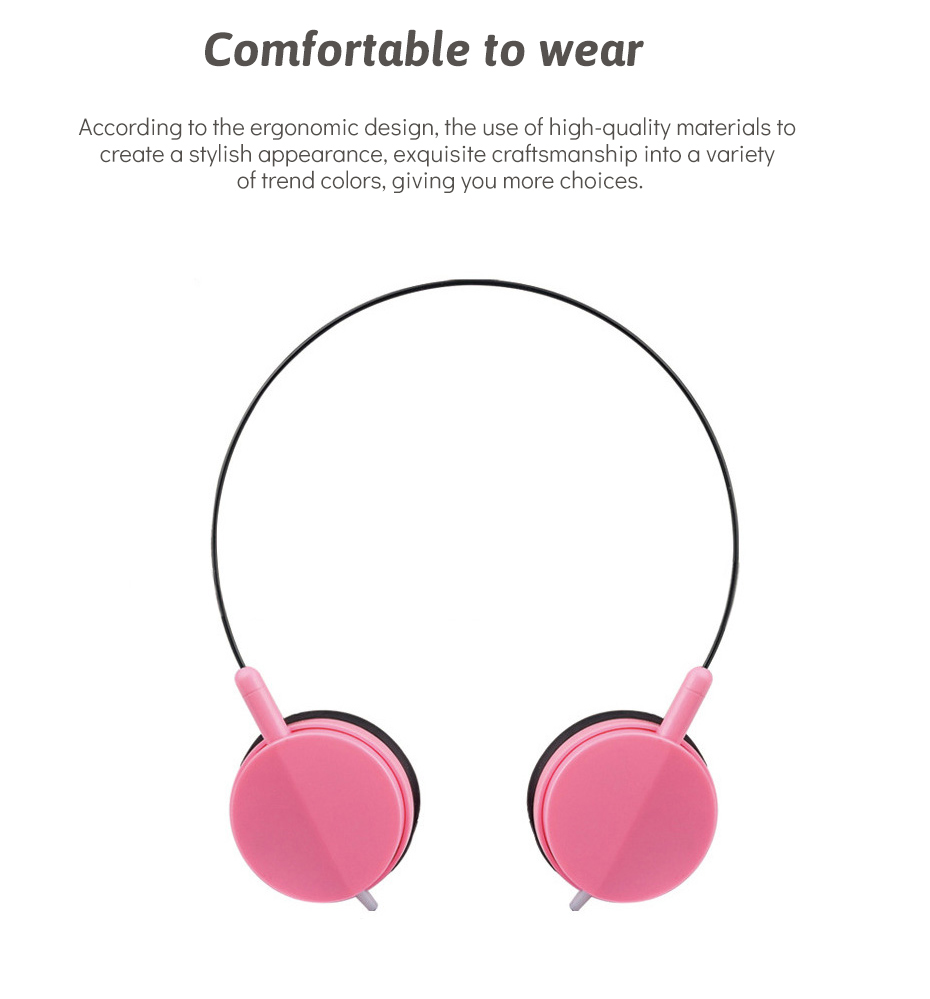 Wired Headphone With Microphone 3.5mm Stereo Music Headphones Portable Sport Headphone For Mobile Phone Computer PC (5)