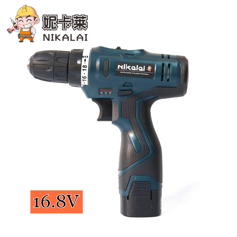 New 16.8v Rechargeable Lithium Battery Cordless Drill Bit Home Multifunctional Electric Screwdriver Household Power Tools