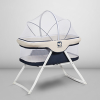Coolbaby Baby Bed European Style Free Installation Multi Function Game Folding Portable Travel Cradle Bed