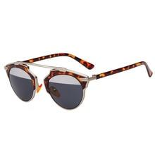 Mooistar #3002 Fashion Women Men Sunglasses Cat Eye Vintage Mirror Lens Goggles