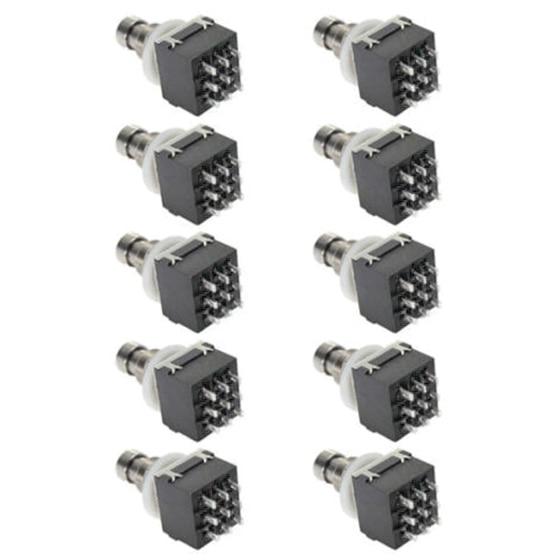 SALES 5x10 Pcs 9-pin 3PDT Guitar effects Self-locking Button switch 10 pcs lot 9 pin 3pdt guitar effects