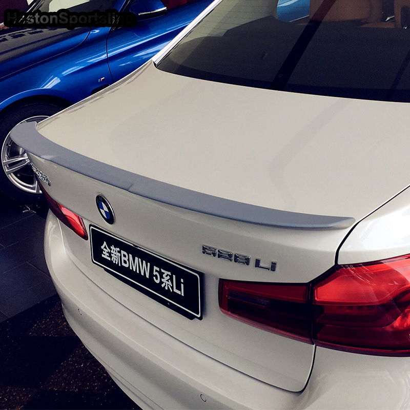 G30 V Style ABS Unpainted Primer Rear Trunk lip Spoiler Wing For BMW 530i 540i G30 2017UP pu rear wing spoiler for audi 2010 2011 2012 auto car boot lip wing spoiler unpainted grey primer
