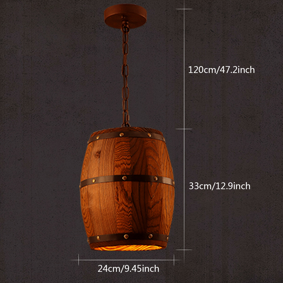Yuenslighting country wooden barrel pendant lights kitchen island yuenslighting country wooden barrel pendant lights kitchen island lamp creative e27 lighting fixture art decoration for bar xh1 in pendant lights from arubaitofo Image collections