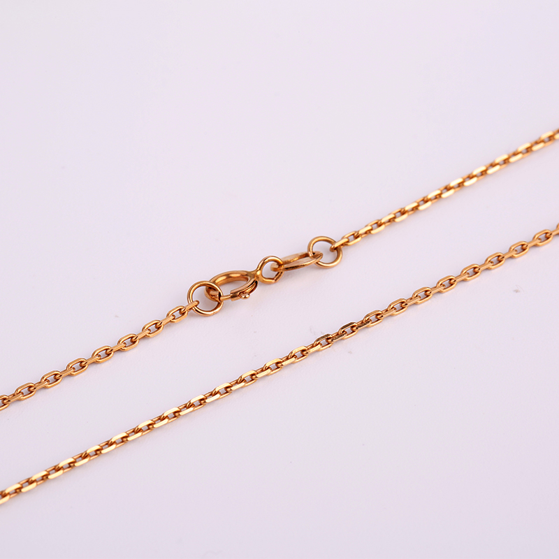 Robira Fashion Women Girl Choker Fine Jewelry 18K Rose Gold Yellow Color Cross Ripples Chain Necklace Accessories Wholesale robira new brand set fashion stud earrings 18k rose gold color trendy balls earrings for women simple fine jewelry wholesale