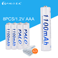 PALO 8pcs aaa rechargeable battery 1.2v 3a battery for remote control ,car ,camera, shaver ,telephone ,flash