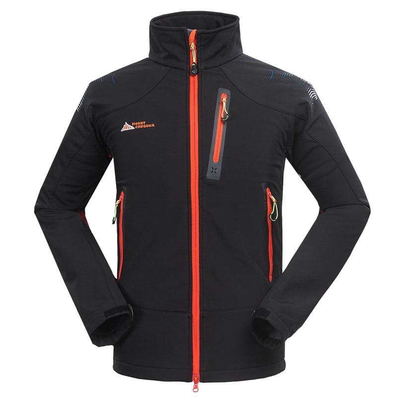 2015 Brand Outdoor Softshell Jacket Men Hiking Jacket Waterproof Windproof Thermal Jacket For Hiking Camping Ski