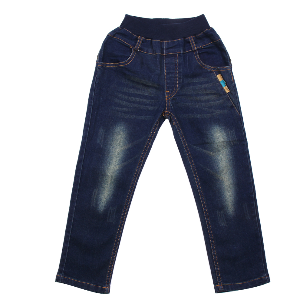 Baby Denim Jeans Kids Children Fashion Jeans Boys Elastic Denim Pants Trousers Bottoms 7 to 12 ...