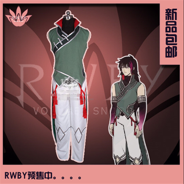 Anime RWBY Lie Ren Simple Sleeveless Cosplay Costume Tops+Pants f gattien 9771 311роз