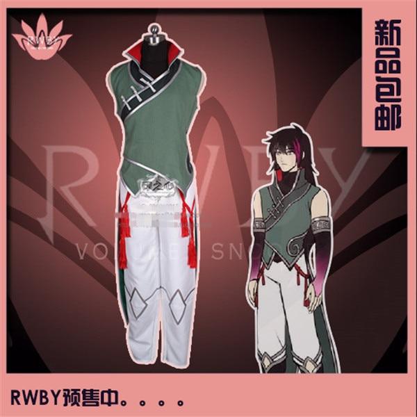 Anime RWBY Lie Ren Simple Sleeveless Cosplay Costume Tops+Pants рюкзак berlingo medium butterfly ru038041 254959