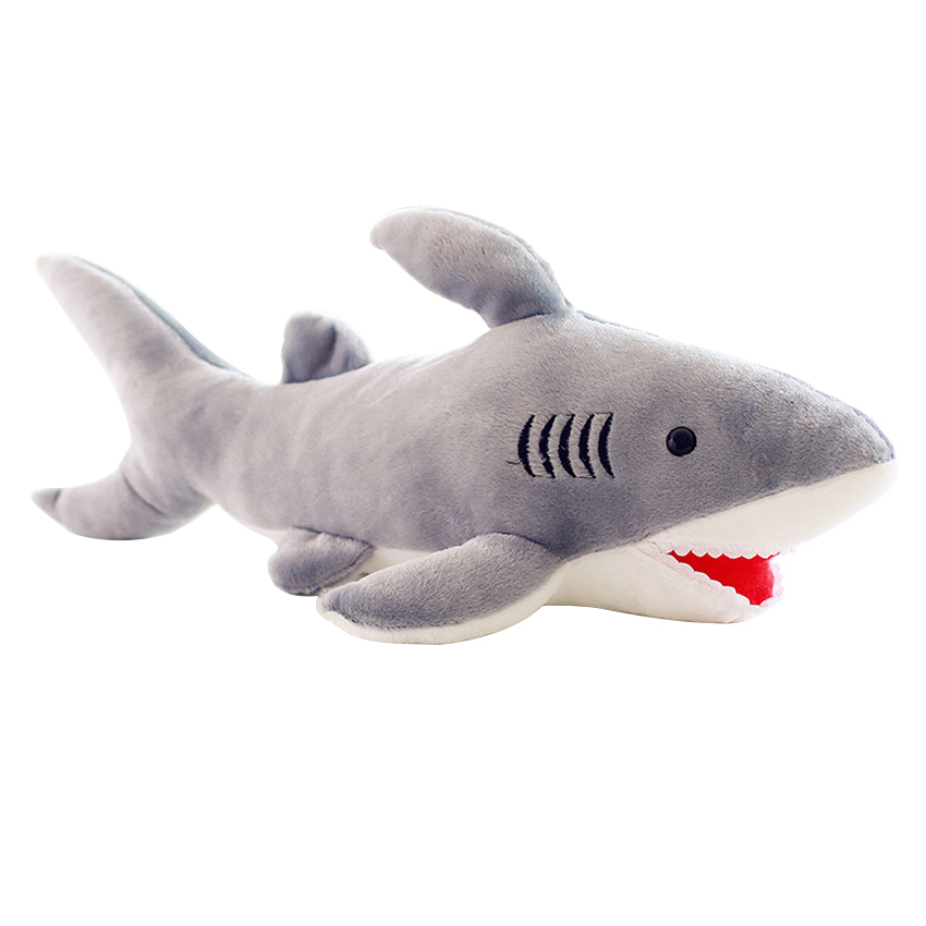 High Quality 70cm Shark Plush Toy Stuffed Pillow Doll Birthday Gift Kids Toy Baby Toy Nice Brinquedos for Children 6 kinds of simulation food plush pillow cushion funny food nap pillow creative kids toy birthday gift for children high quality