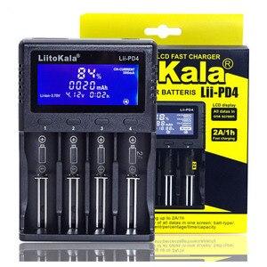 Image 3 - Nieuwe Liitokala Lii S2 S4 PD4 402 202 100 18650 Batterij Lader 1.2V 3.7V 3.2V AA21700 Nimh Li Ion batterij Smart Charger + 5V Plug