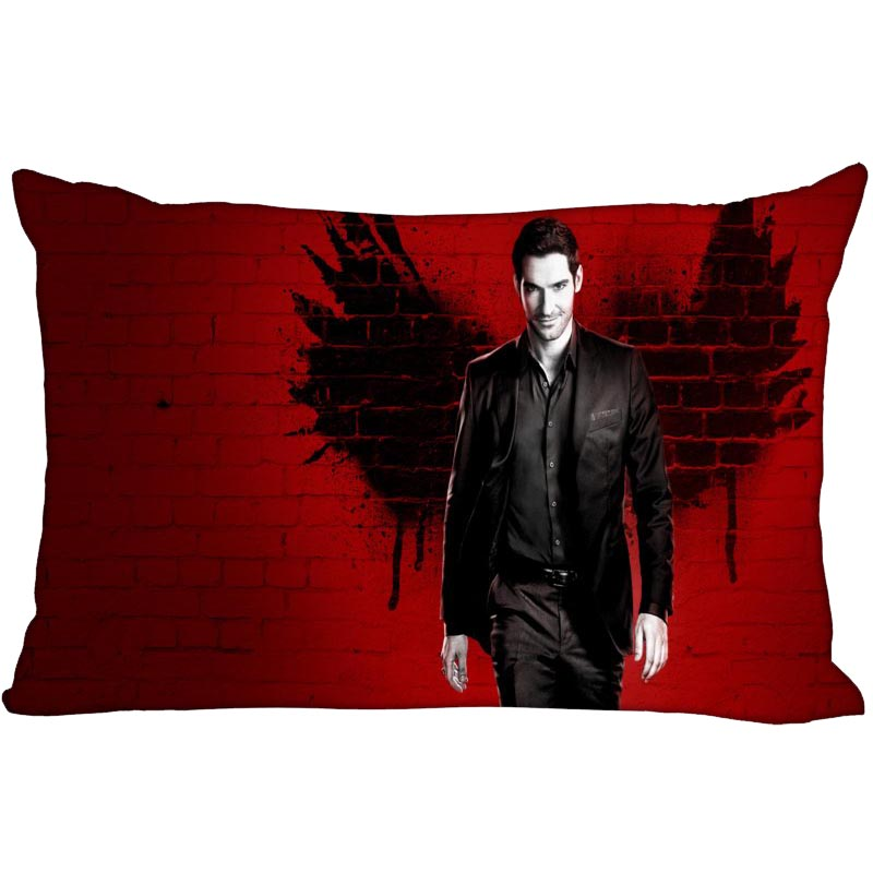 Custom Lucifer Rectangle Pillowcase Zipper Dakimakura Classic Pillow Case Size 35X45cm DIY Gift