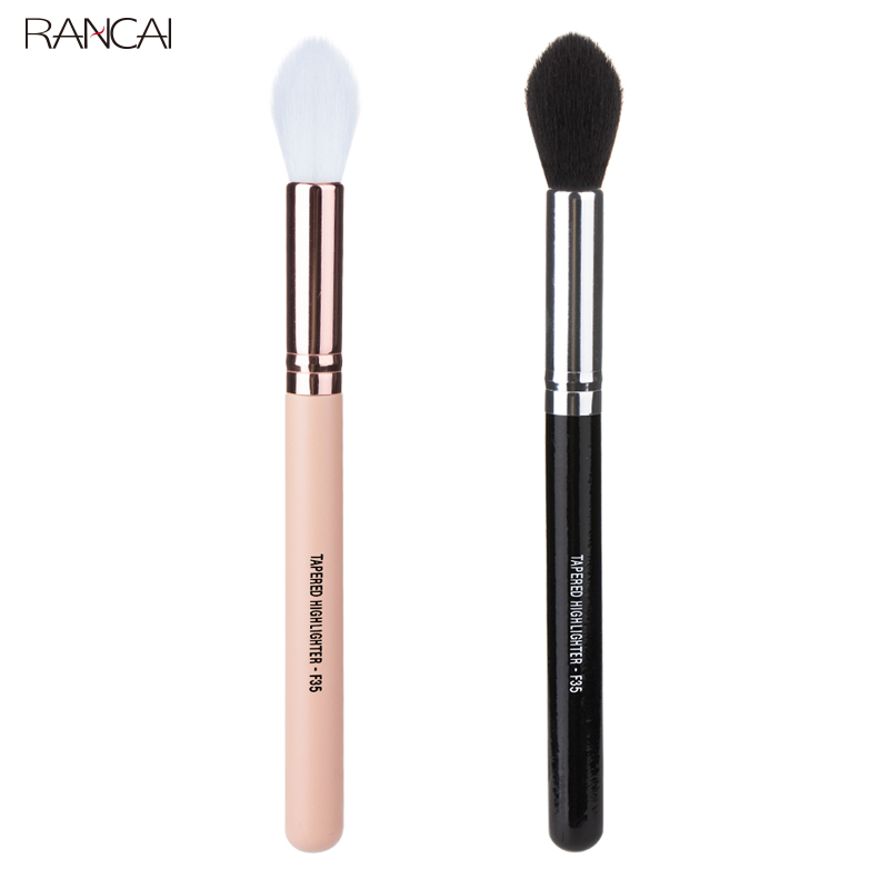 RANCAI Professional TAPERED HIGHLIGHTER F35 Perfect Fluffy Face Powder Bronzer Brush Eyes Blending Cosmetic Tools Makeup Brush