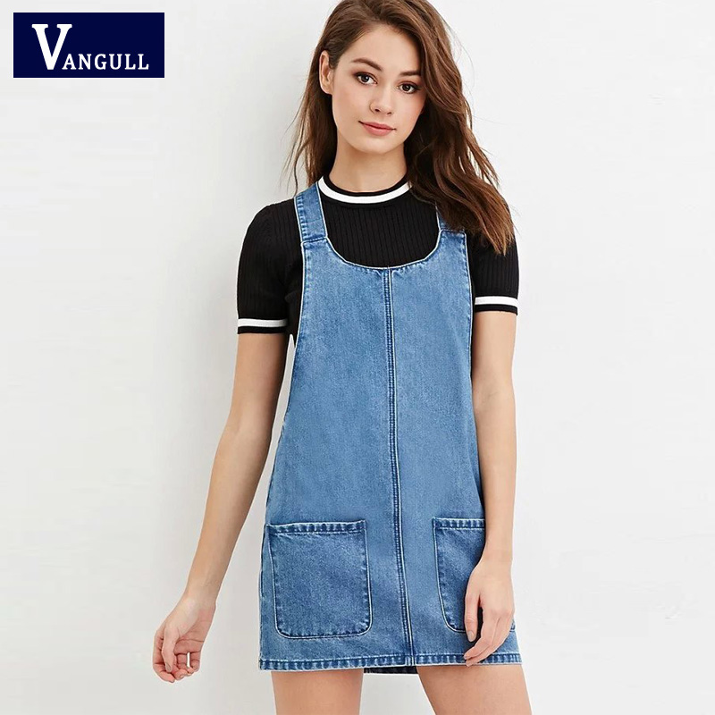 c95304f74e0e4 Detail Feedback Questions about Vangull Pinafore Denim Dress With ...