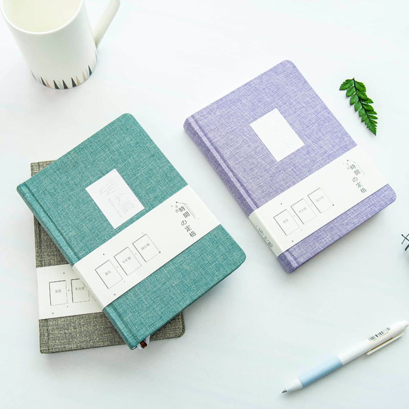 Japanese simple hardcover book thick cloth hand account portable notebook blank horizontal line notebook stationery nnrts creative cloth hardcover notebook blank box notepad painting graffiti diy hand book stationery