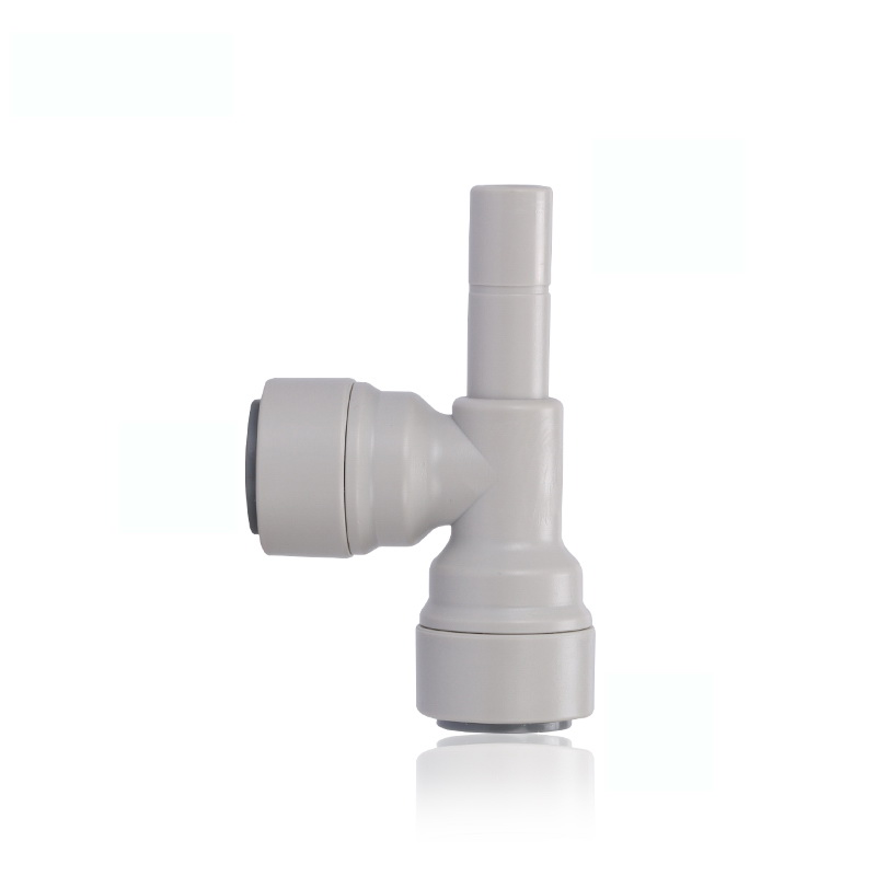 3/8 Quick Connection - OD Tube RO Water Filter 3 Ways Connector Tee Type Tight Junction PE Pipe Fitting