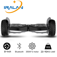 2018 IRALAN 8 Inch Hoverboard With Bluetooth Speakers Two Wheels Smart Self Balancing Scooter Electric Skateboard