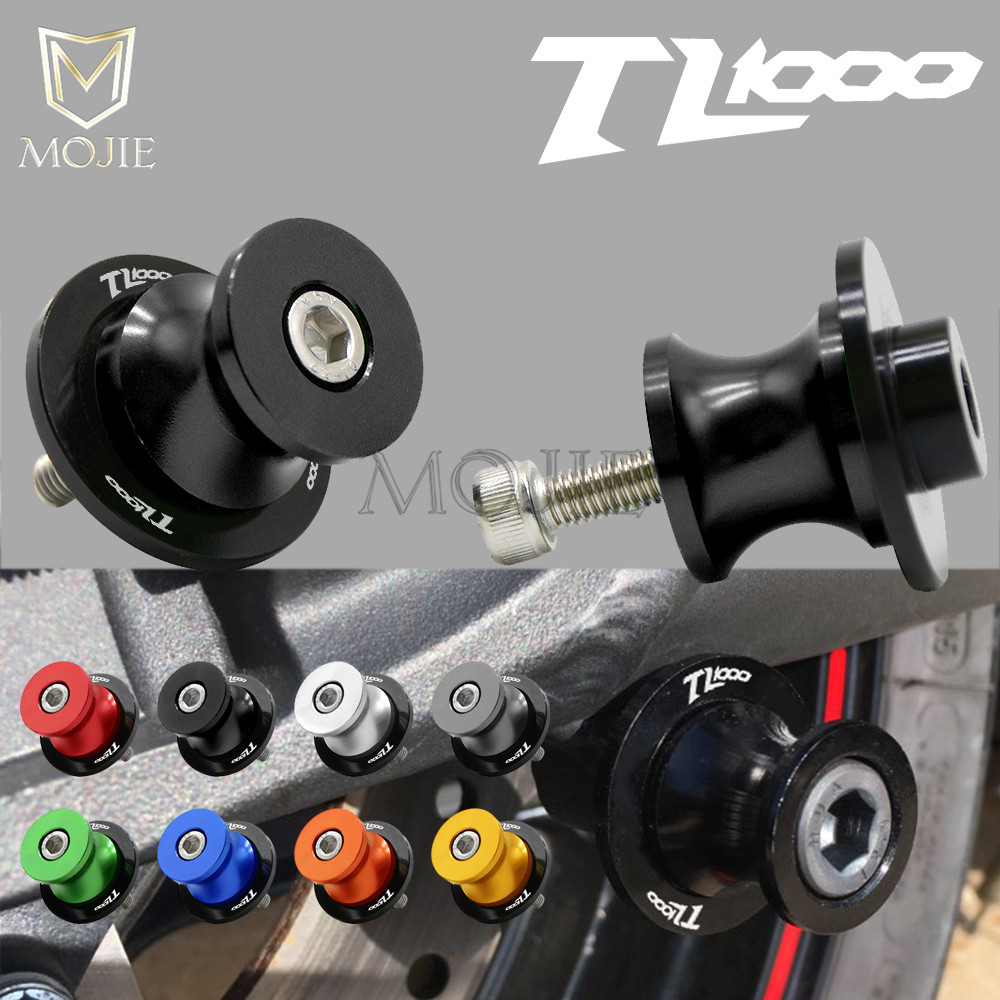 For SUZUKI TL1000 TL 1000 R S TL1000R TL1000S All Year Swingarm Stand Motorcycle Stand Paddock 8MM Rear Swingarm Sliders Spools