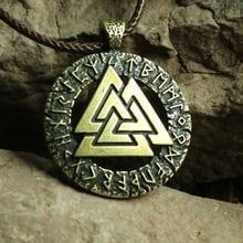 1pcs Slavic Norway Valknut pagan amulet pendant Men necklace Scandinavian Viking jewelry Odin 's Symbol of Norse Viking Warrior