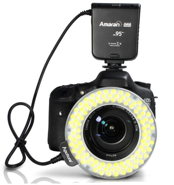 Aputure светодиоды AHL-HC100 Macro Ring Flash Light CRI95 для Canon 700D 650D 600D 550D 500D 450D