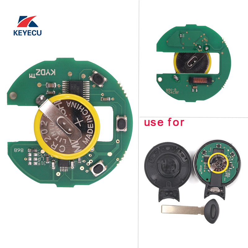 KEYECU Replacement KYDZ Remote Key PCB Circuit Board 315 315LP 433 868MHz ID46 for BMW Mini