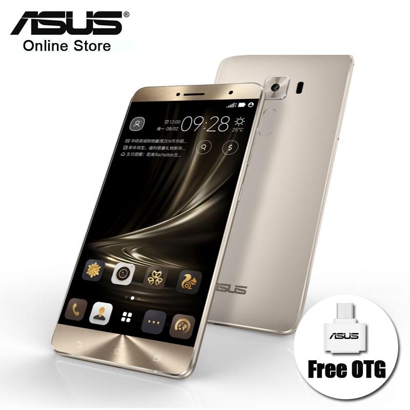 Цена за Оригинальный asus zenfone 3 deluxe zs550kl 4 ГБ ram 64 ГБ rom Snapdragon 625 Android 6.0 Окта Ядро 16.0MP FHD Смартфон Металла тела