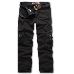 Модные брюки-карго Для мужчин брюки хлопок Повседневное мульти-карман твердые военно-тактические брюки для Для мужчин