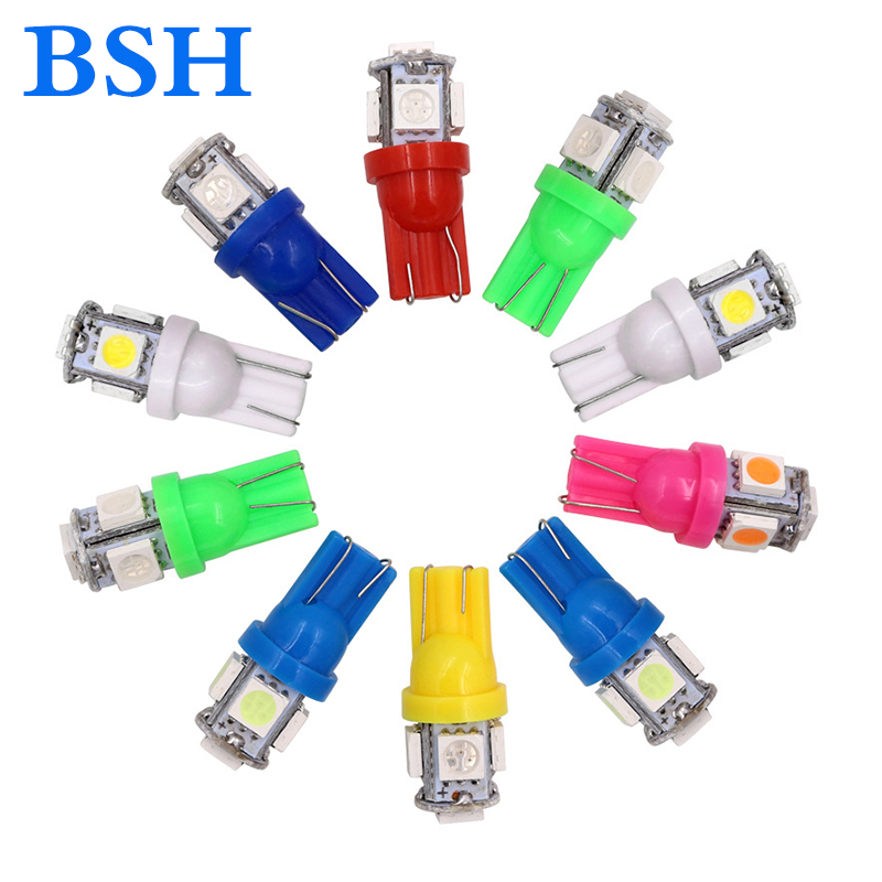 Wholesale 500x T10 W5W LED Bulb 5 SMD LED 5050 194 168 Super Bright wedge Lights