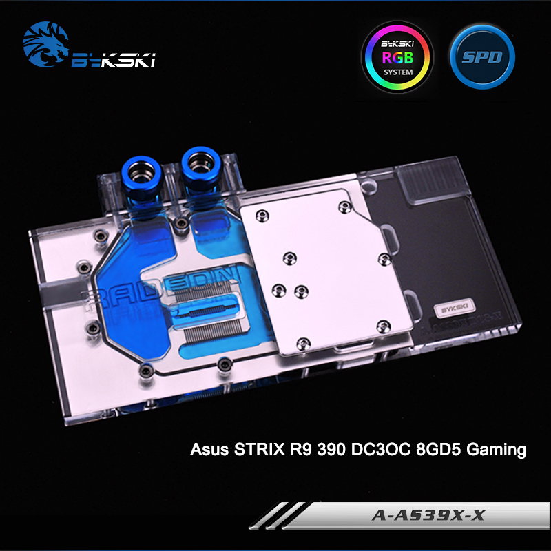 Bykski A AS39XDC3 X Full Cover Graphics Card Water Cooling Block RGB RBW for Asus STRIX