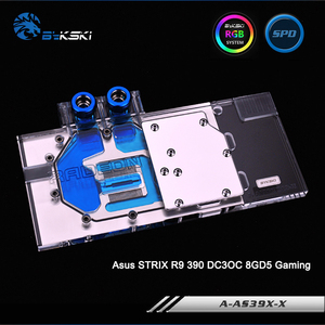 Bykski A-AS39XDC3-X, Full Cover Graphics Card Water Cooling Block RGB/RBW for Asus STRIX R9 390 DC3OC 8GD5 Gaming