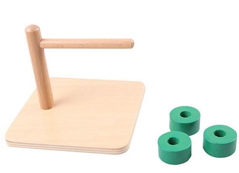 Купить с кэшбэком New Wooden Baby Toy Montessori Kids Toy Baby Wood Cylindrical Horizontal dial Learning Educational Preschool Training Baby Gifts