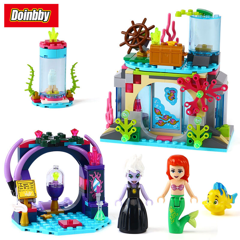 Lepin 25010 Princess Series Ariel and Magic Spell Girl Friends Building Block Brick Toys Kids Gifts Compatible 41145