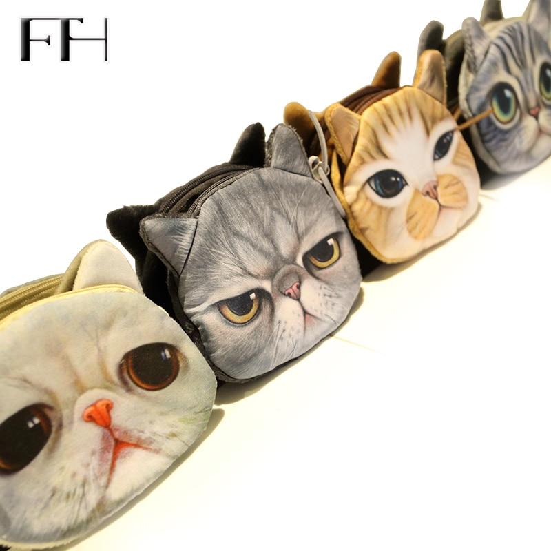 Hot New style mini cute pet cheap womens coin Purse lovely kitty clutch for girls Kids childrens pretty Zipper Change Wallet