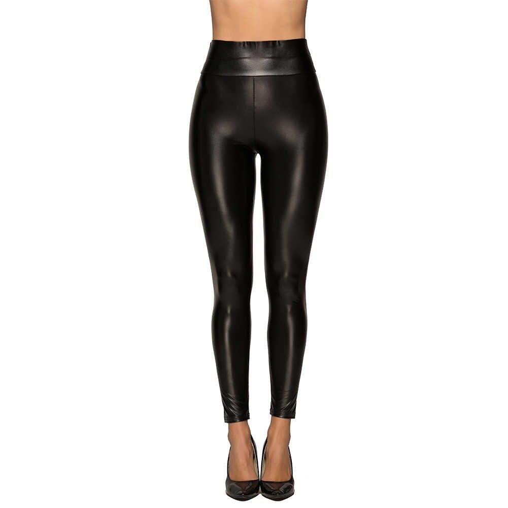 AVODOVAMA M Sexy Skinny Leggins De Couro Das Mulheres Legging De Cintura Alta Elástico Pu Calças Stretch Quentes Calças Femininas