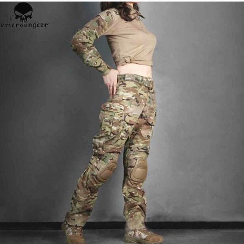 G3 Style Combat Suit For Woman Hunting Clothes Multicam Camouflage Emerson Tactical Pants Combat Uniform EM6966 Hunting Party