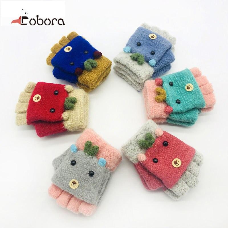 Baby Winter Gloves Hot Baby Gloves Children Thicken Stretch Children Girls Boys Gloves Full Knit Glove Mittens 987036 Gloves & Mittens