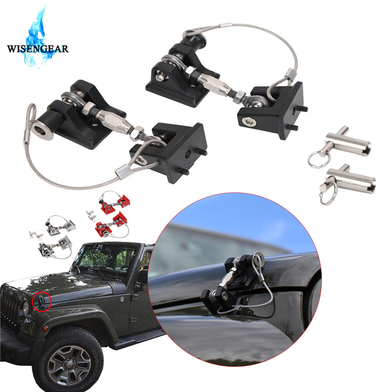 2007 Jeep Wrangler Unlimited Sahara >> WISENGEAR Car Auto Lock Hood Latch Catch For Jeep Wrangler ...