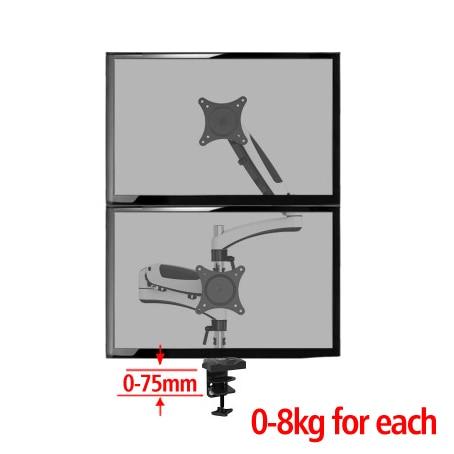DL-112CD hauteur réglable LCD moniteur Support en alliage d'aluminium Rotation afficheur de bureau TV Long bras VESA Support Max 27 pouces