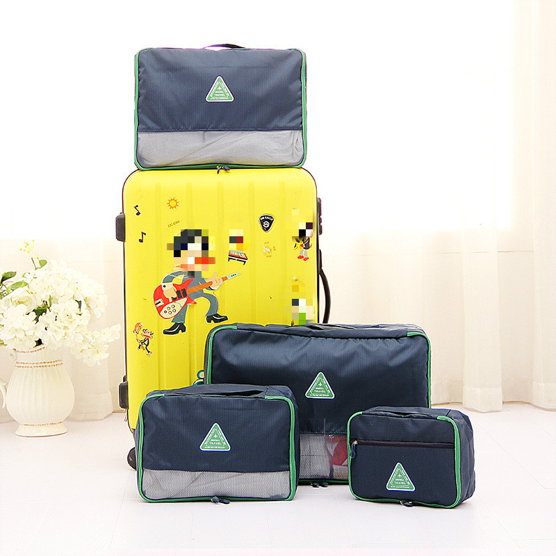 PACGOTH new full oxford waterproof luggage travel bags multifunctions storage set grid pattern solid travel accessories 1 set