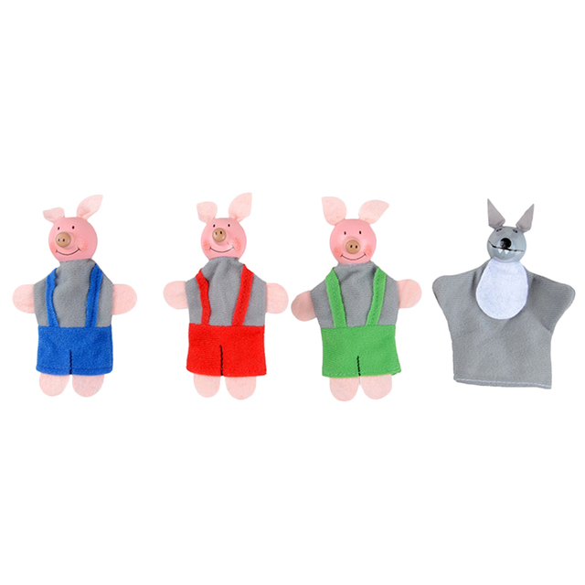 Three Little Pigs and Wolf Finger Puppet