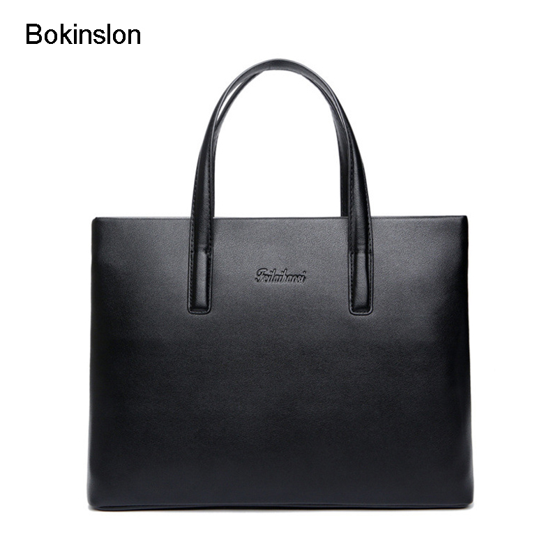 Bokinslon Men Handbags Casual Split Leather Man Crossbody Bag Popular Solid Color Business Male Bags woman in the summer of 2016 youth popular color patent leather crocodile pillow boston crossbody bag business mini pochette