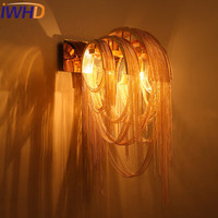 IWHD Nordic Style Iron Sconce Moden Wall Light Led Fashion Bedroom Wall Lamp Home Lighting Stairs Lamparas de Pare Wandlamp