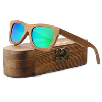 Wood Sunglasses for Women,Bamboo Polarized Wooden Glasses UV400 Bamboo Green Sunglasses Brand Wooden SunGlasses With Wood Case