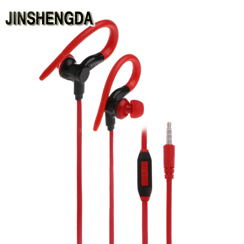 JINSHENGDA In-Ear Earphone  3.5mm Stereo In-Ear Earphone Handsfree & Volume Control Mic For Mobile Phone volume control 3 5mm glow earphones in ear stereo metal luminous earphone light headsets handsfree with mic for iphone samsung