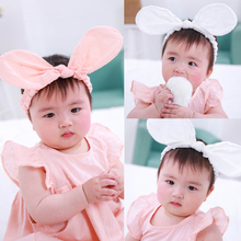 2019 Kids Baby Girls Headband Baby Accessories Bow Ear Lace Hair Band Rabbit Headwear Toddler Baby Gifts