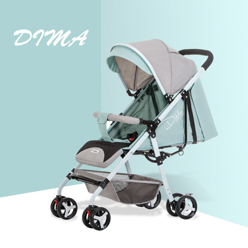 DIMA Baby Strollers can sit and lie can folding Baby stroller winter summer free shipping|Lightweight Stroller| |  - title=