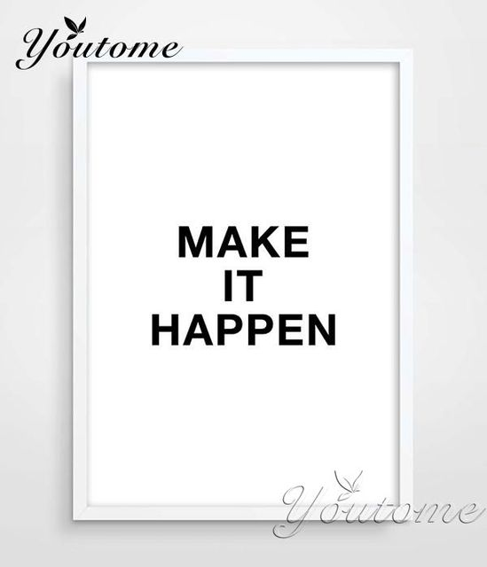 Digital Print Poster Motivational Wall Decor Make It Hen Bedroom Art Awesome Quote Black