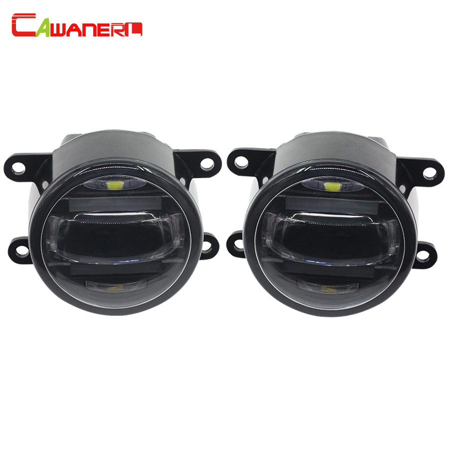 Cawanerl Car Styling LED Fog Light Daytime Running Lamp DRL White For Mitsubishi Outlander L200 Pajero Grandis