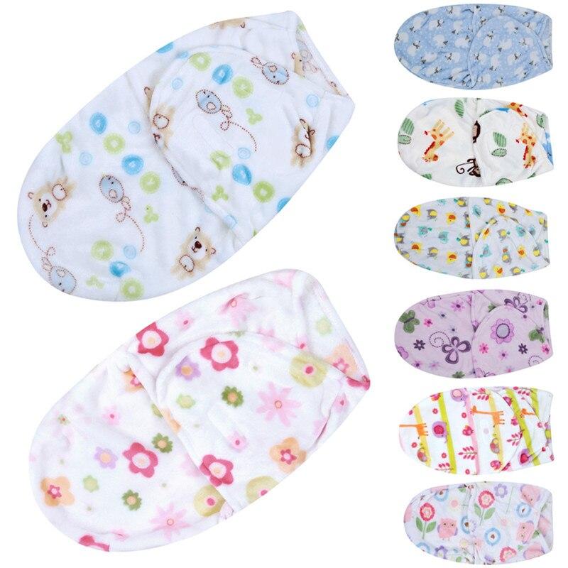 Детское одеяло для пеленания Обёрточная бумага флис ткань конверты мягкие пеленание ребенка Sleepsack детские постельные принадлежности зима ... ...